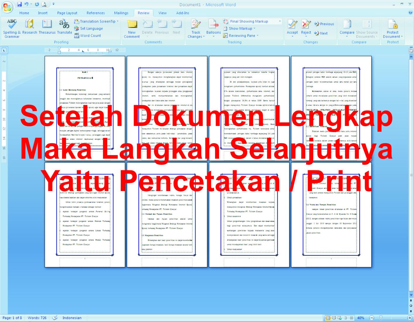 Cara Membuat Buku Lipat / Book Fold Pada Ms.word 2007