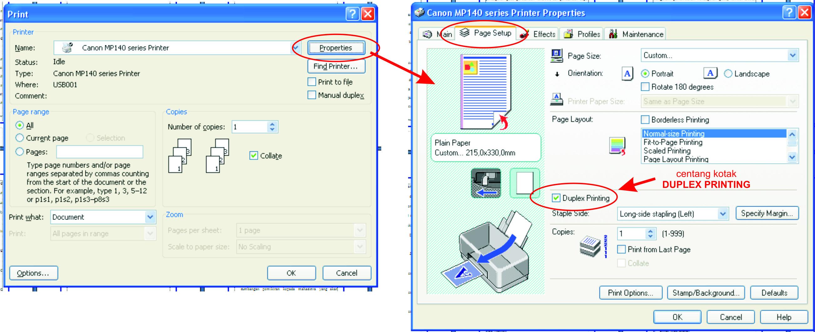 Cara membuat buku lipat atau book fold pada MS. Office